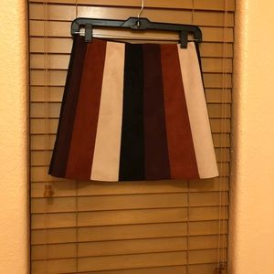 F21 SUEDE COLORBLOCK SKIRT $15